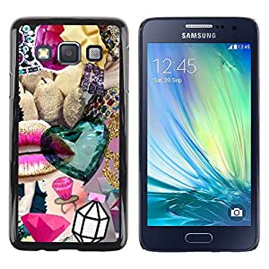 Exotic-Star ( Diamond Jewel Abstract Gold Bling ) Fundas Cover Cubre Hard Case Cover para Samsung Galaxy A3 / SM-A300