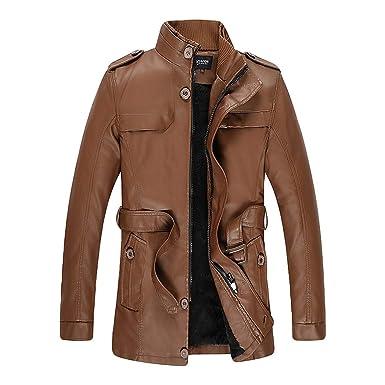 cappotto uomo pelle invernale lungo