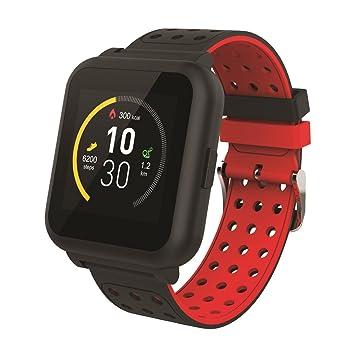 Muvit I/O MIOSMW009 Reloj de Actividad y Sueño, Negro y Rojo, M: Amazon.es: Deportes y aire libre