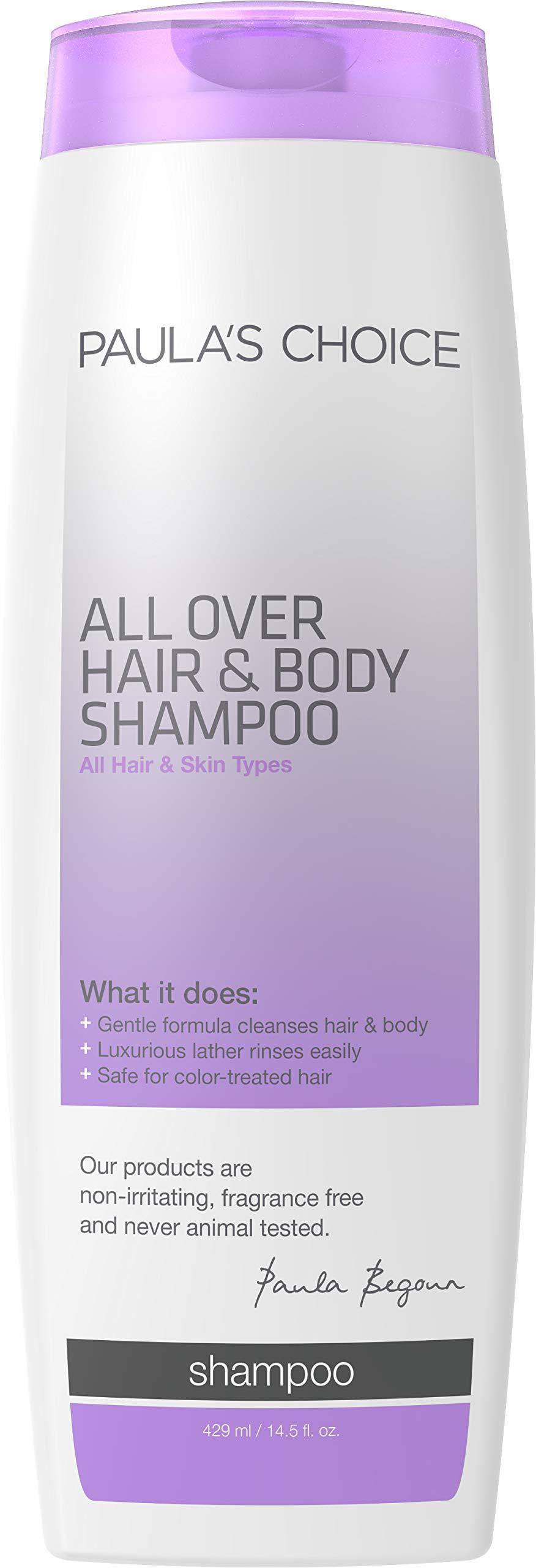 Paula's Choice All Over Hair Shampoo & Body Wash, Fragrance Free, Safe for Color Treated Hair, 14.5 Ounce by PAULA'S CHOICE