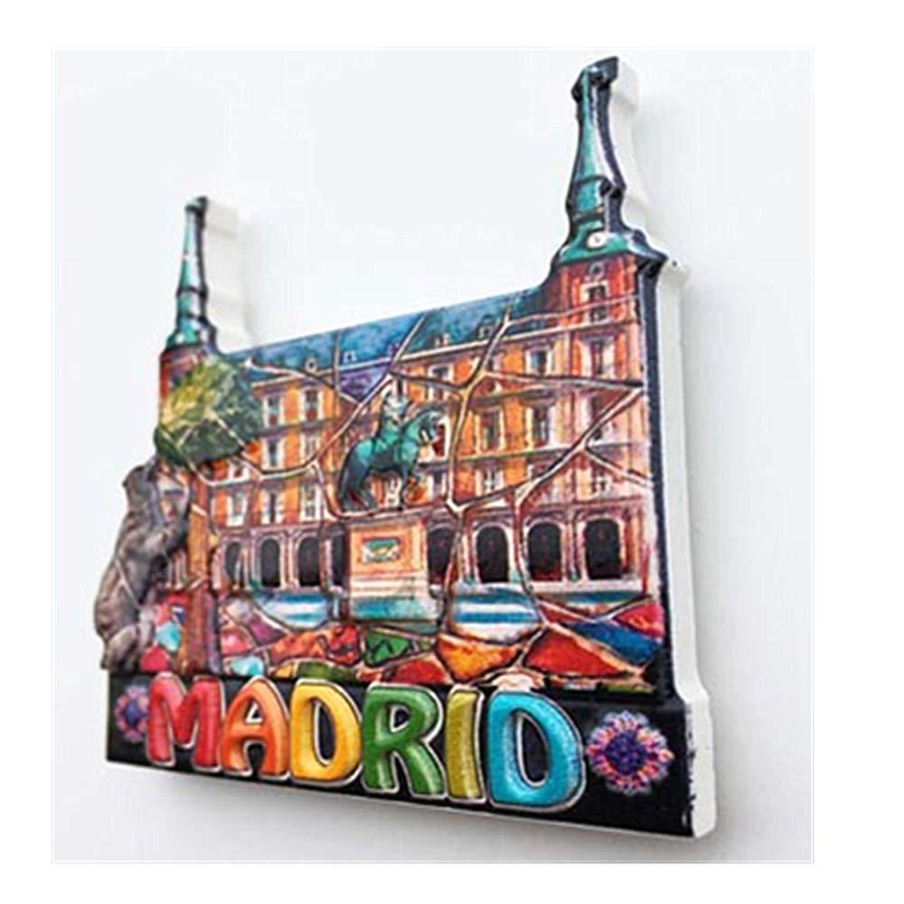 MUYU Magnet Imán para Nevera de Madrid España 3D, decoración del ...