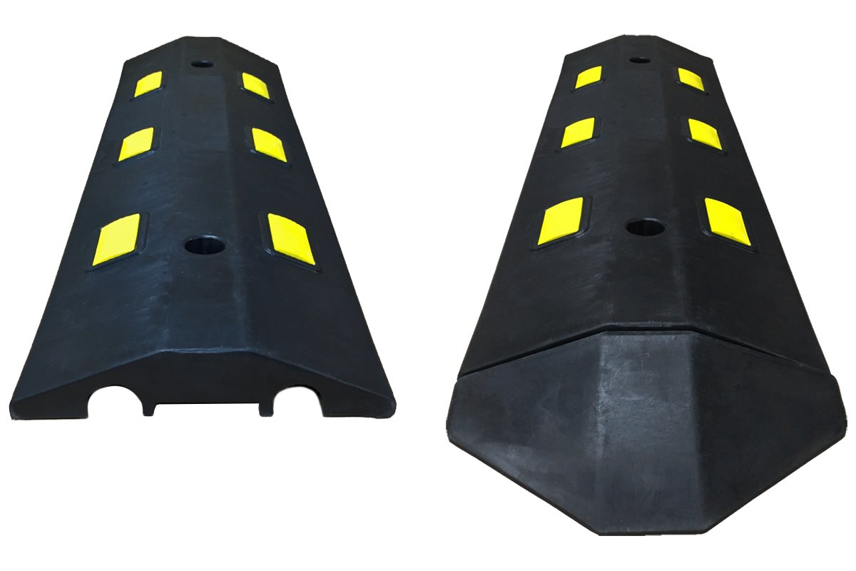 Electriduct Ultra Light Weight Economy Speed Bump - Yellow - 3 Pieces (9 Feet) - Concrete by Electriduct (Image #6)