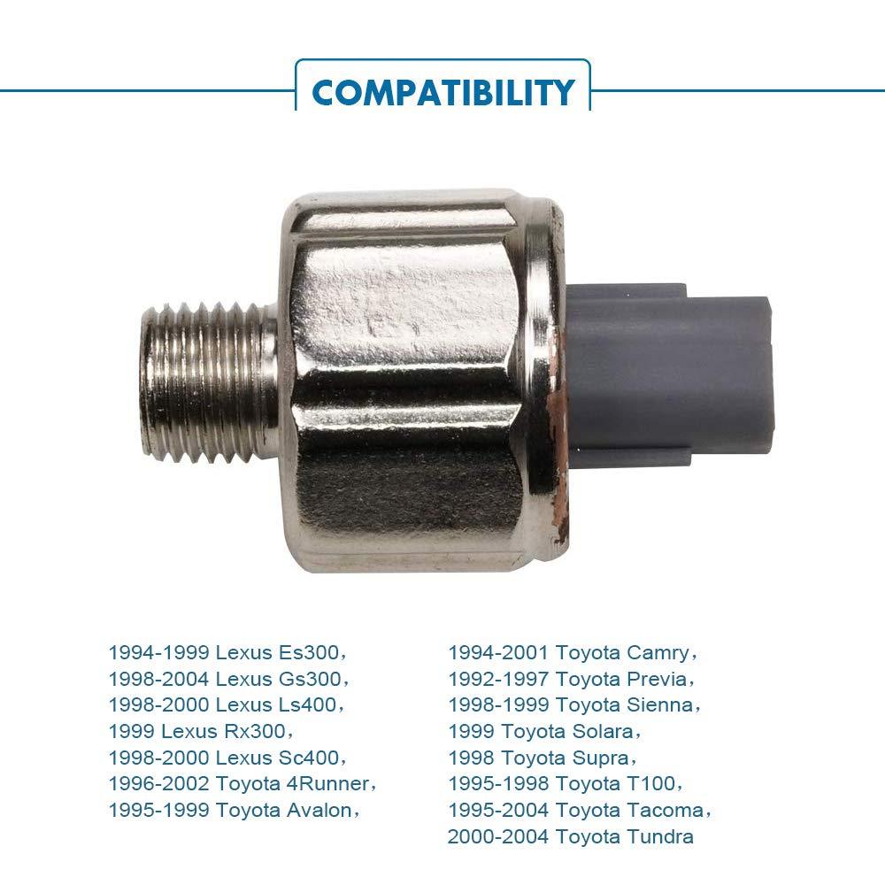TURBOSII Ignition Knock Detonation Sensor 89615-12040 KS81 Compatible w//Lexus Es300 Gs300 Ls400 Rx300 Sc400,Toyota 4Runner Avalon Camry Previa Sienna Solara Supra T100 Tacoma Tundra