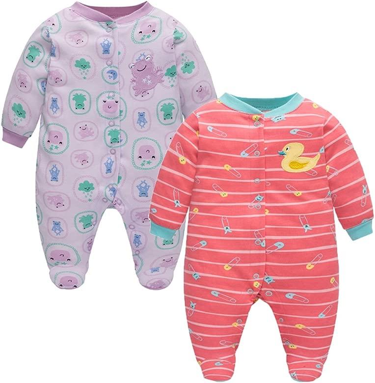 Bebé Pijama Mamelucos de Algodón, Paquete de 2 Peleles Niños ...