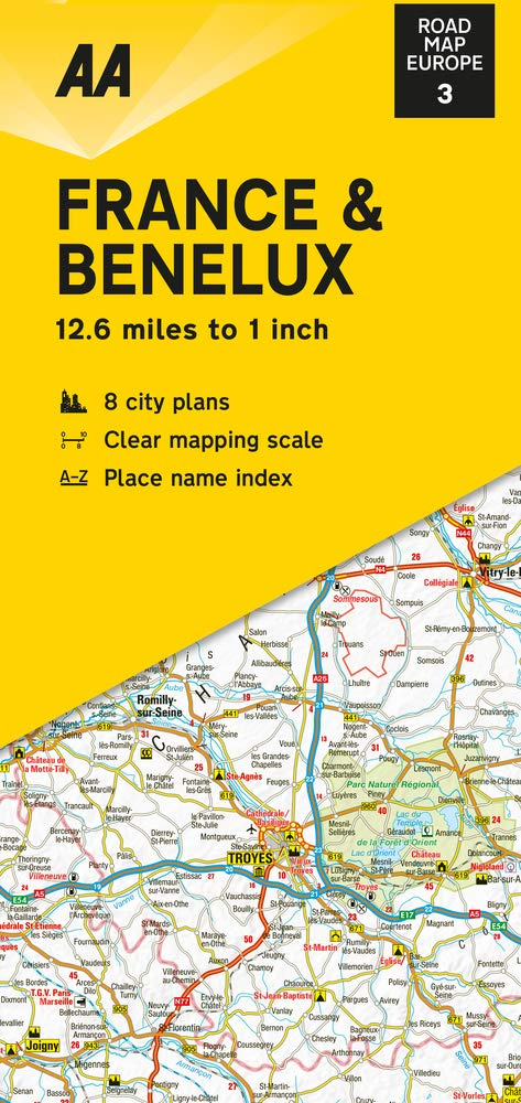 aa road map europe series Road Map France & Benelux AA Road Map Europe 03 AA Road Map Europe