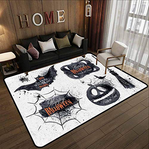 Hallway Rug,Vintage Halloween,Super Absorbs Mud,6'6