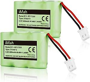iMah BT17333 BT27333 3.6V Cordless Phone Battery Compatible with VTech BT163345 BT263345 CS2111 CS5113 CS5121 AT&T 89-1332-00-00 Sanyo CLT3500 Radio Shack 23-956 43-3215