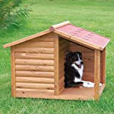 【ドイツTRIXIE】屋外用犬小屋TRIXIE ナチュラドッグケンネルサドルルーフ ブラウン M