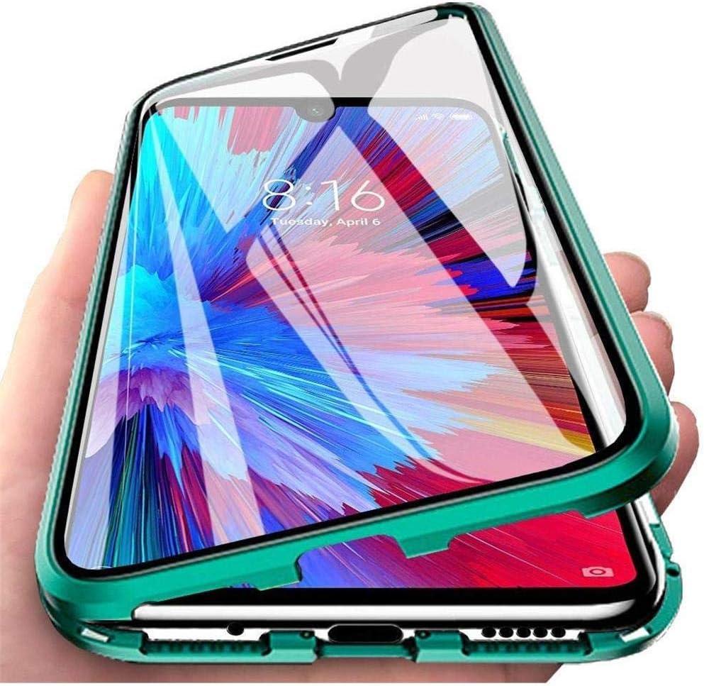 Funda para Xiaomi Poco F2 Pro / Redmi K30 Pro Zoom, 360 Grados Delantera y Trasera de Transparente Vidrio Templado Case Cover, Fuerte Tecnología de Adsorción Magnética Metal Bumper Cubierta - verde