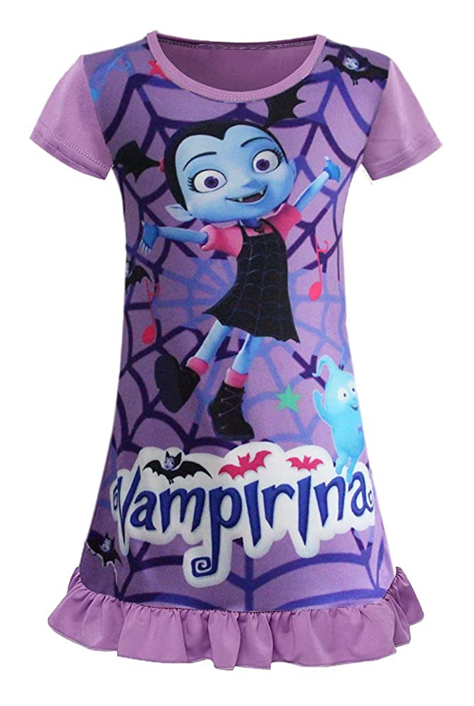 AOVCLKID Vampirina Toddler Night Gown For Little Girls Pajamas Dress