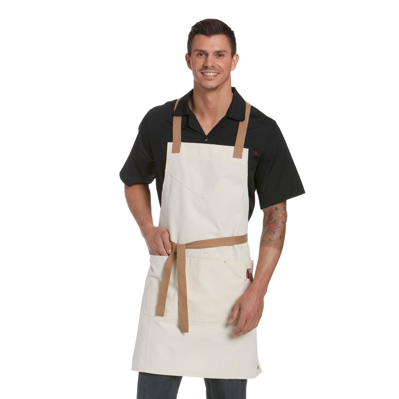 Chefwear シェフランチ ビブエプロン メンズ レディース 大型 3分割ポケット  オートミール B07D18MDD4