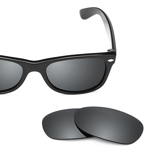 Revant Polarized Replacement Lenses for Ray-Ban New Wayfarer 52mm RB2132  Elite Black Chrome MirrorShield 249b46c49b