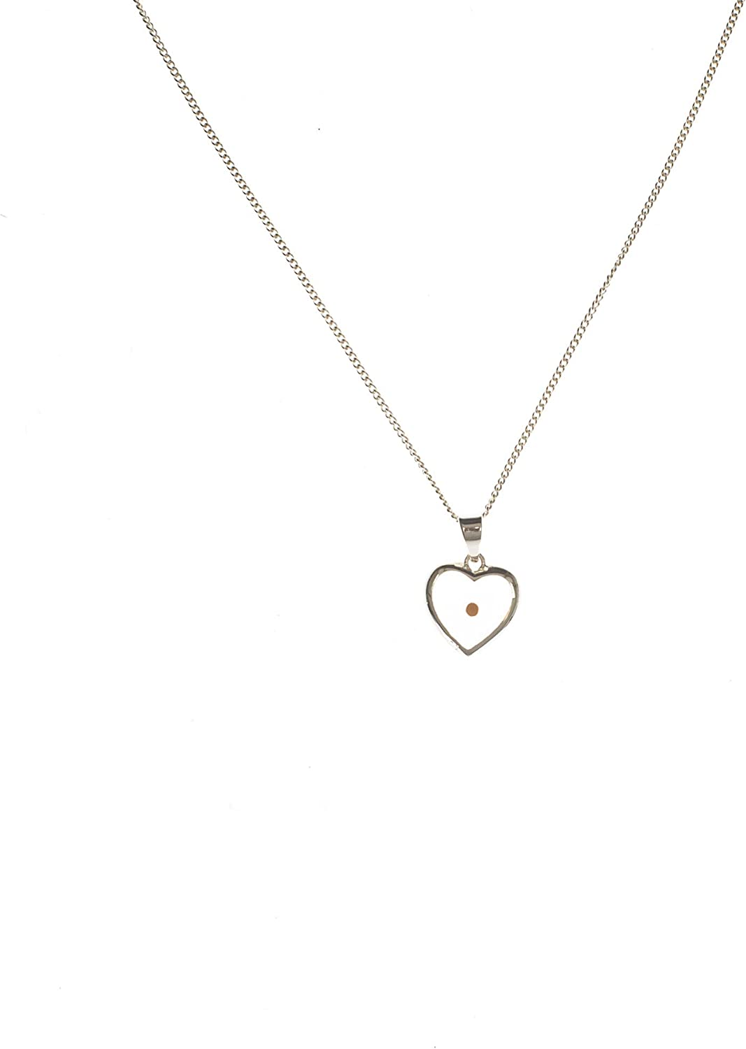Best Quality Free Gift Box Sterling Silver Small Heart with Mustard Seed Pendant