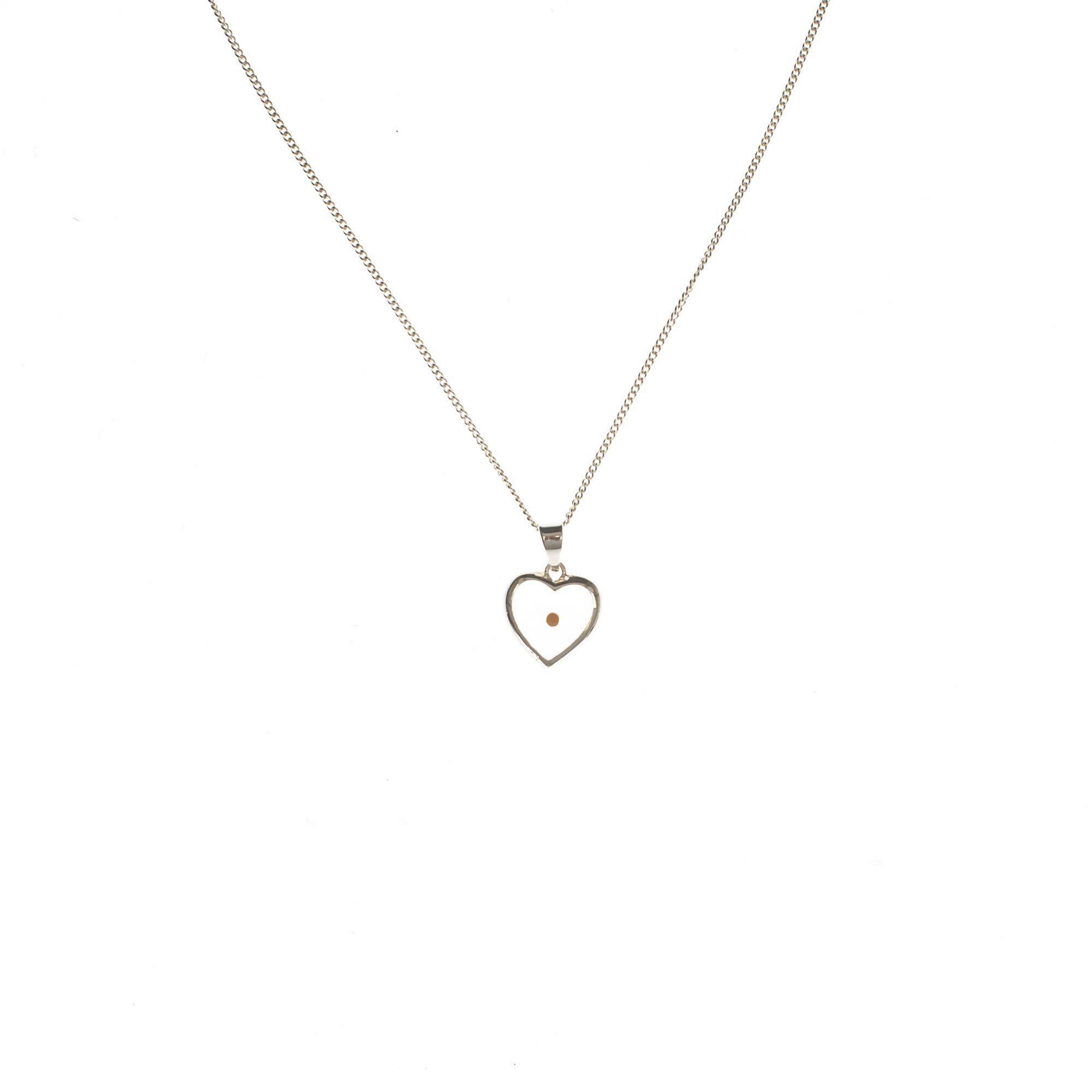 Dicksons The Mustard Seed Matthew 17:20 Heart Silver Plated Pendant Necklace - 18 inch Chain by Dicksons