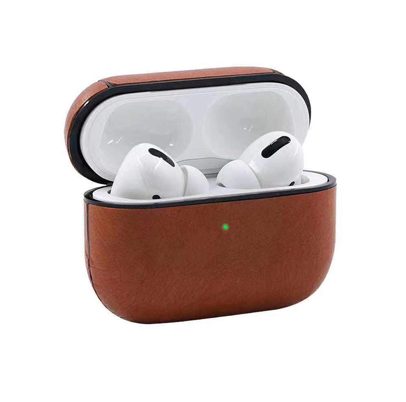 Dark Brown V-MORO Airpods Pro Case Compatible with Apple Airpods Pro 2019 Leather Protective case Cover