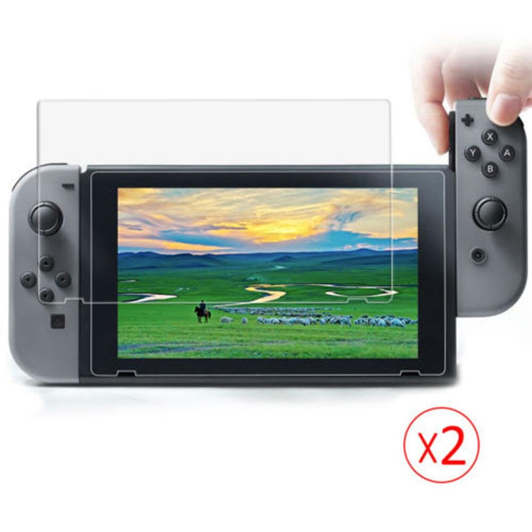 Vanvler Tempered glass Screen Protector Film Guard Sheet for Nintendo Switch Console Clear (2PCS) by Vanvler (Image #4)