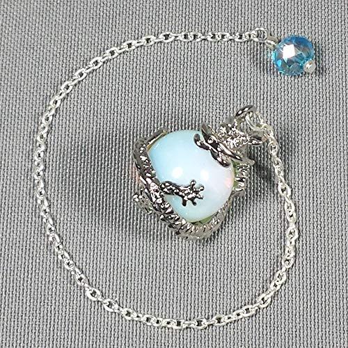 Opalite Dragon Sphere Crystal Pendulum w/Swarovski Crystal Finger Grip, SSP12