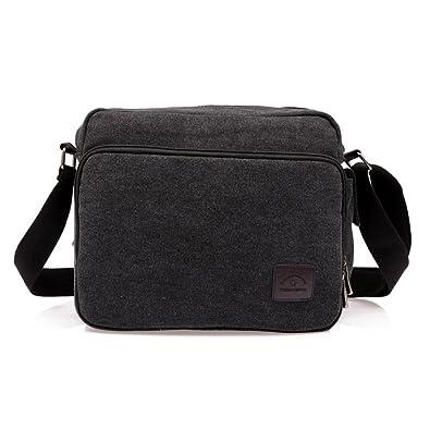 Amazon.com  Classic Men s Multifunctional Canvas Messenger Bag ... 324746fa3161e