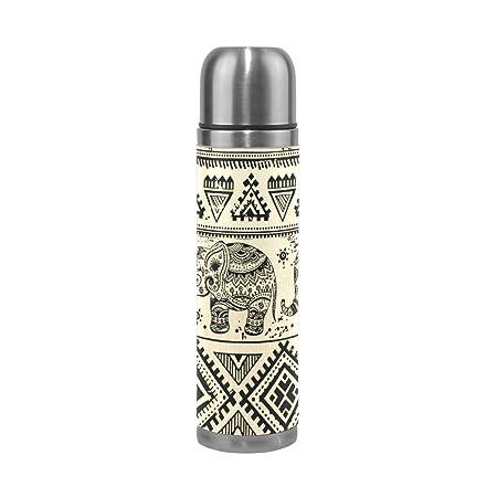 BENNIGIRY Amazing Elephants Aztec Vacuum Flask Double Wall