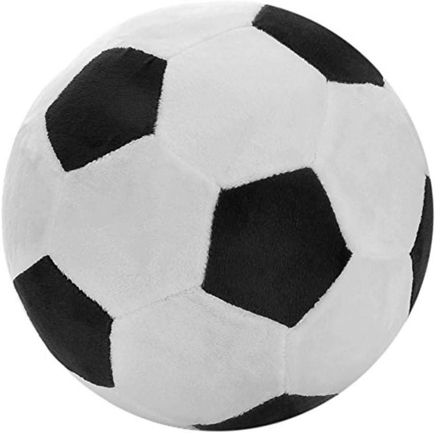 junkai Felpa de fútbol de pelota de peluche Juguete, 20cm, blanco ...