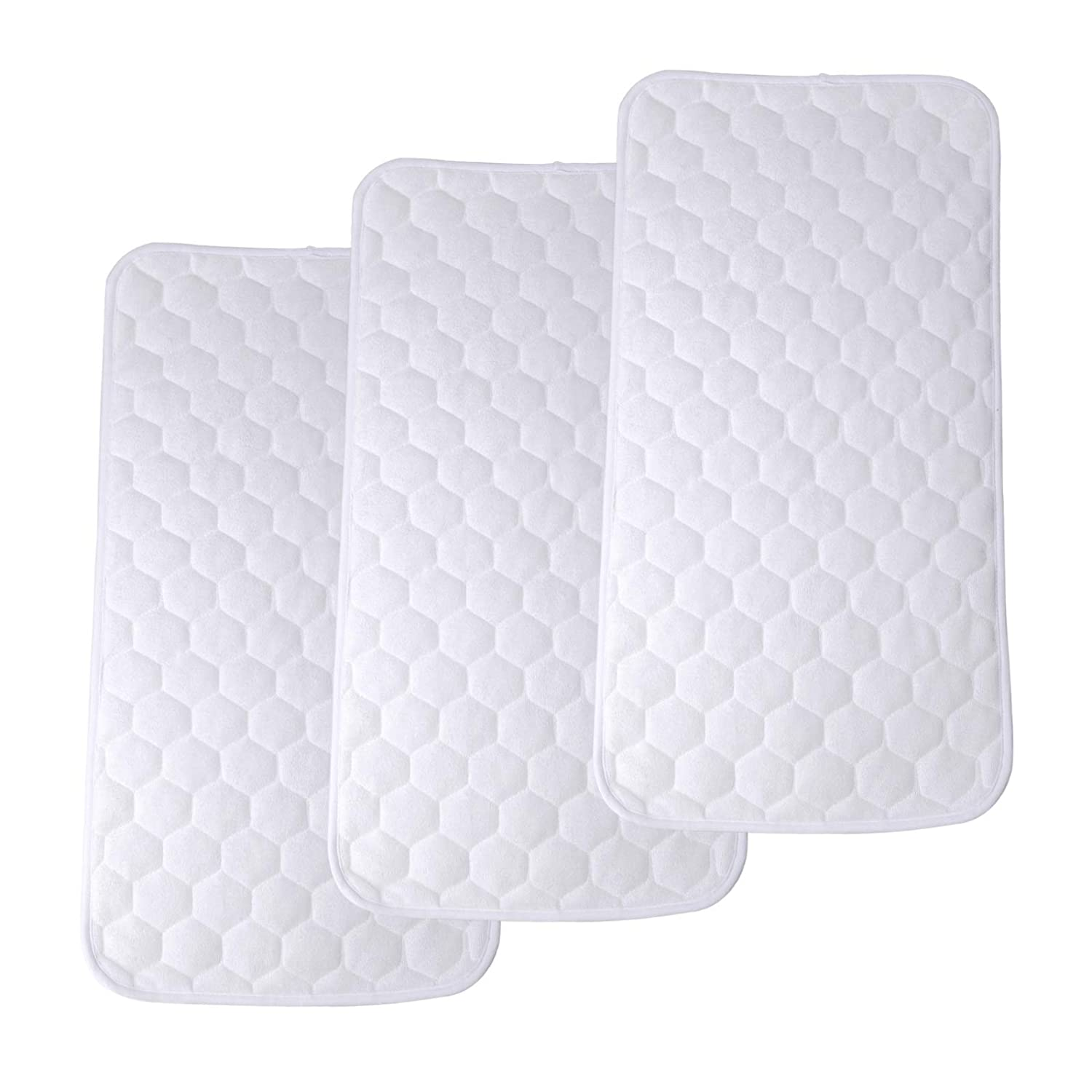 27/'/'x 13/'/' Thicker Soft Baby Diaper Liners Portable Waterproof Changing Mat Cover for Infant Diaper Changing Table Pad 3 Pcs Bamboo Waterproof Changing Pad Liners