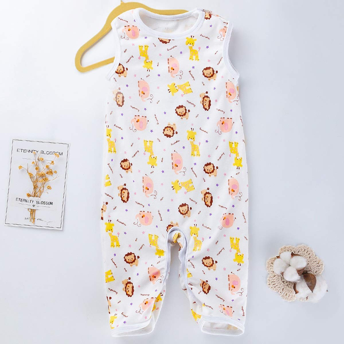 Color : Various Animals, Size : 80 Leyeet Baby Toddler Cartoon Animal Print Sleeveless Romper Newborn Casual Jumpsuit Outfit