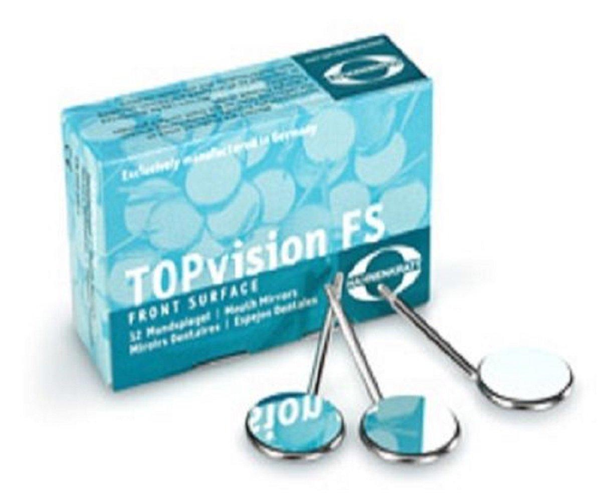 HAHNENKRATT Dental TOPvision FS REF 636X5 Plane CS Mouth Mirrors 12/Bx