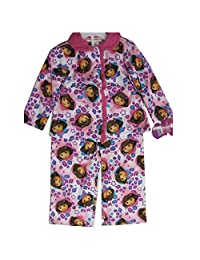 Nickelodeon Little Girls Pink Dora The Explorer Heart Print 2 Pc Pajama Set 2T-4T