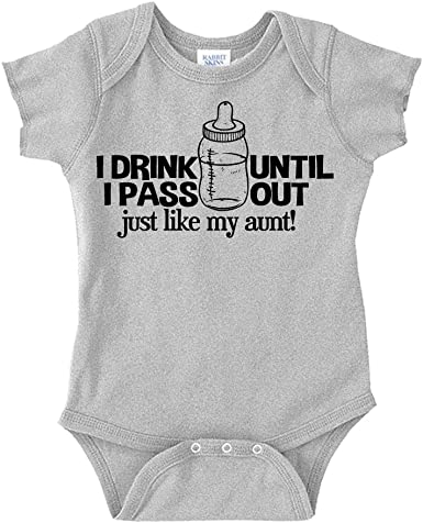 Babys first vestbodysuits favourite aunt I drink till i pass out like my aunt Novelty baby gift  Perfect gift