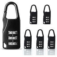Basetousual 6 Stuks Zwart Koffer Combinatieslot Hangslot, Mini Wachtwoord Hangslot Slot, Het Kan Worden Gebruikt om…