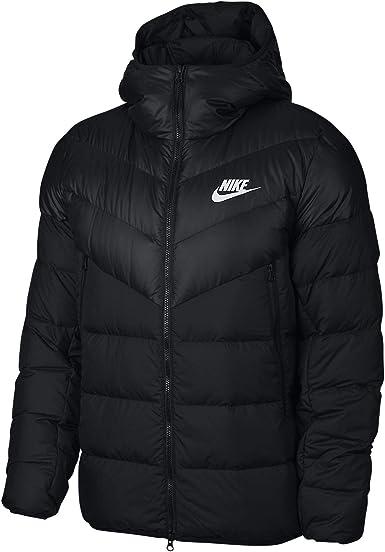 Gallina Conceder Pila de  Amazon.com: Nike Sportswear Windrunner - Chaqueta con capucha para hombre  (negro/negro, mediano): Clothing