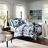 King Comforter 110 X 96 MADISON PARK SIGNATURE Seaglass Ikat Comforter Set (King 110x96)