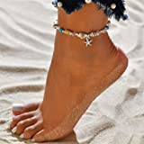 Women's Shell Beach Foot Chain Conch Sandal Anklets Beads Bracelet Jewelry