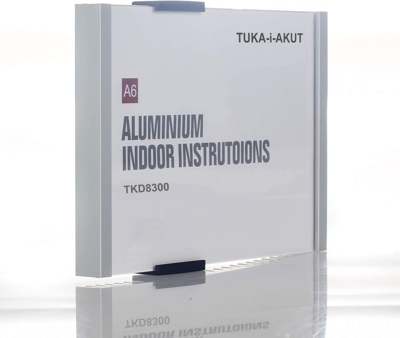 TUKA-i-AKUT A6 Placa para Puerta, Aluminio y Cubierta de Acrílico ...