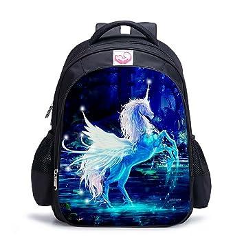 Mochilas de escuela unicornio de fantasía, mochilas arcoiris estilo unicornio Mochilas escolares de estudiante, mejores regalos de unicornio Equipaje de ...