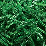 2 Pound Crinkle Cut Paper Shred - Emerald Green