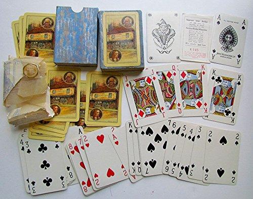VINTAGE 1920s BRITISH BRIDGE PLAYING CARDS DECK w/ BOX by JOHN WADDINGTON LTD.