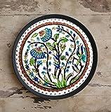 CraftedIndia Multicolor Floral Design Turkish Ceramic Wall Plate