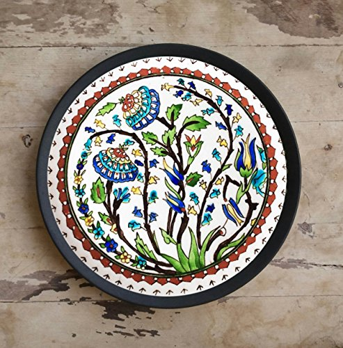 CraftedIndia Multicolor Floral Design Turkish Ceramic Wall Plate by CraftedIndia