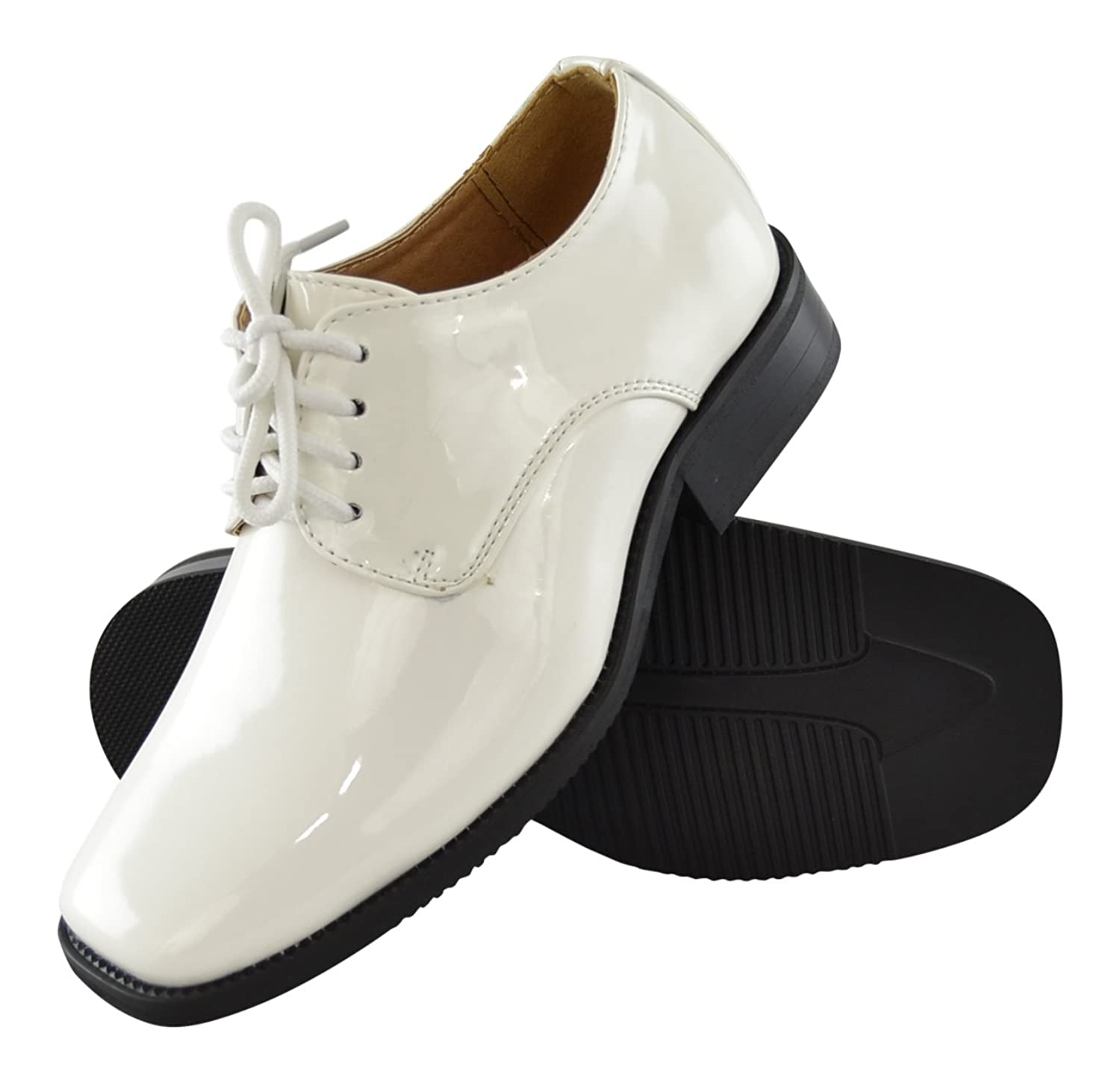 White youth dress shoes
