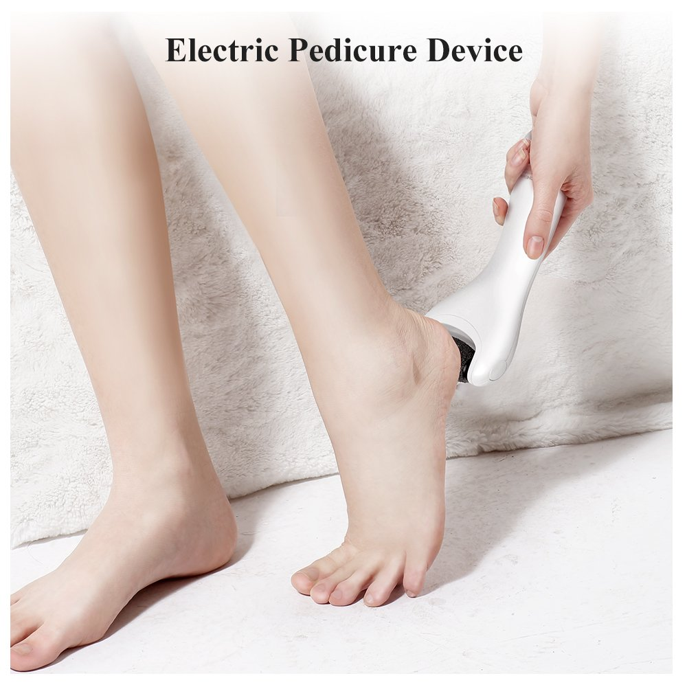 TOUCHBeauty Electric Pedicure tool Foot File Callus Shaver Wet Dry Rechargeable Corn Hard Skin Remover with Roller Head TB-1536