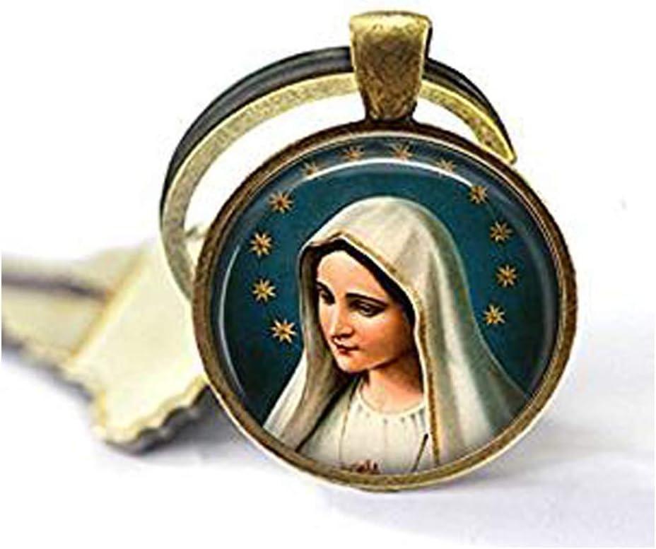 nijiahx Porte-cl/és Lady of Fatima Vierge Marie Vierge Marie Porte-cl/és Vierge Marie avec Halo /Étoile