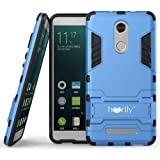 Heartly Graphic Designed Kick Stand Hard Dual Rugged Armor Hybrid Bumper Back Case Cover For Xiaomi Mi Redmi Note 3(Power Blue)