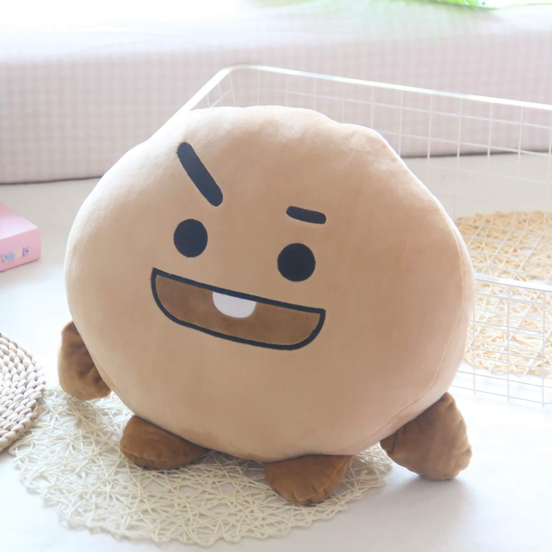 BTS BT21 Chimmy Cushion Bangtan Boys Throw Pillow Cute Cartoon Doll Bolster Pillow Dolls,Biscuit,11.8''to15.7'' 11.8''to15.7'' 199447