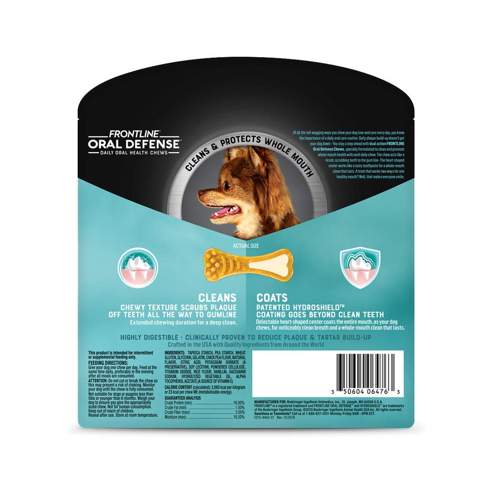 Frontline Oral Defense Daily Dental Chews for X-Small Dogs