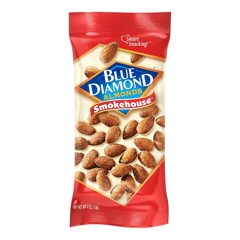 Blue Diamond Almonds, Smokehouse, 4 Ounce (pack of 12)