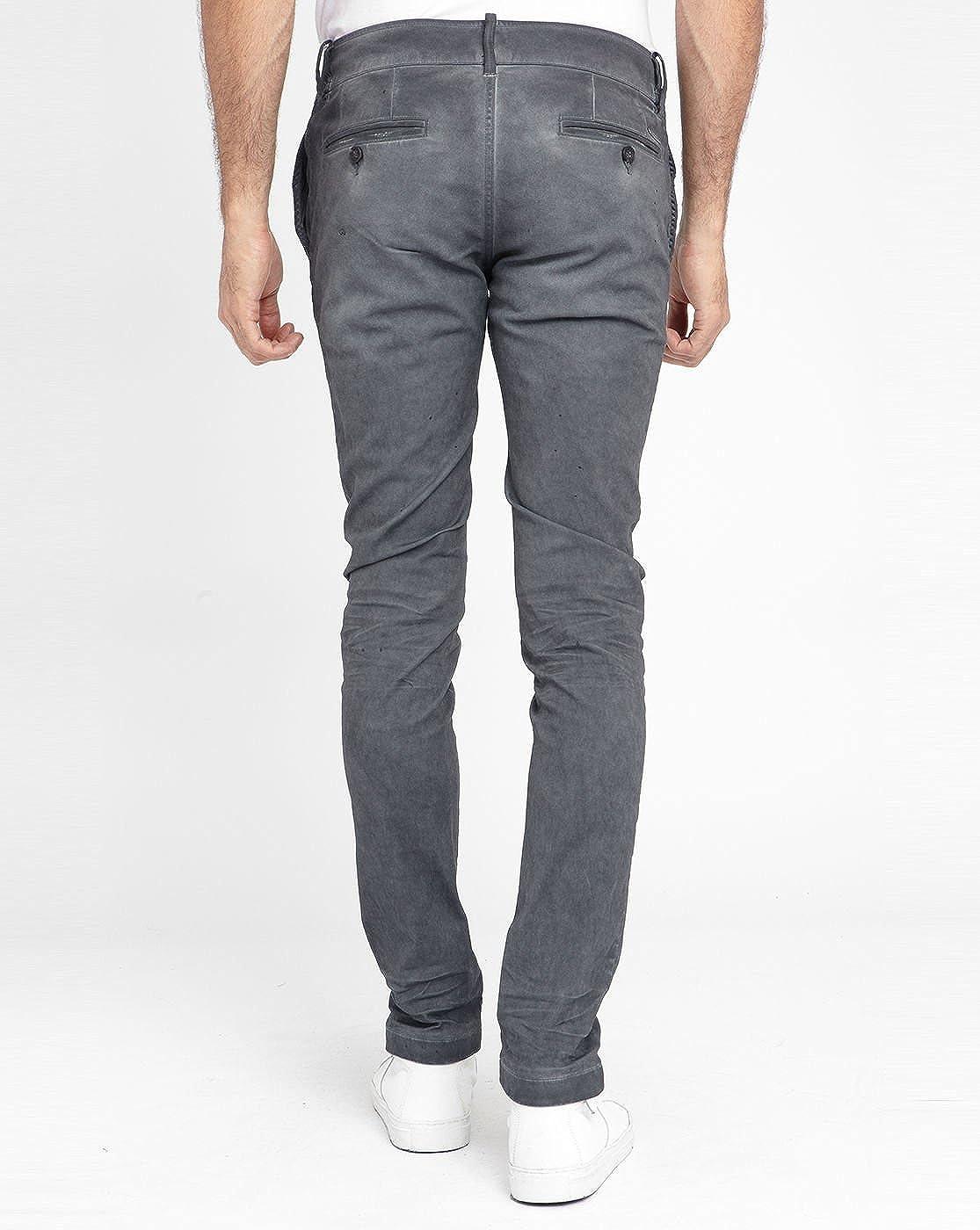 2ef5dda9 DIESEL - Chinos - Men - Charcoal Grey Chi-Shaped Chinos for men - 30|32:  Amazon.co.uk: Clothing