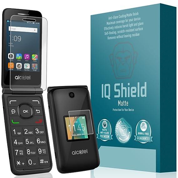 IQ Shield Matte Screen Protector Compatible with Alcatel Go Flip Anti-Glare  Anti-Bubble Film