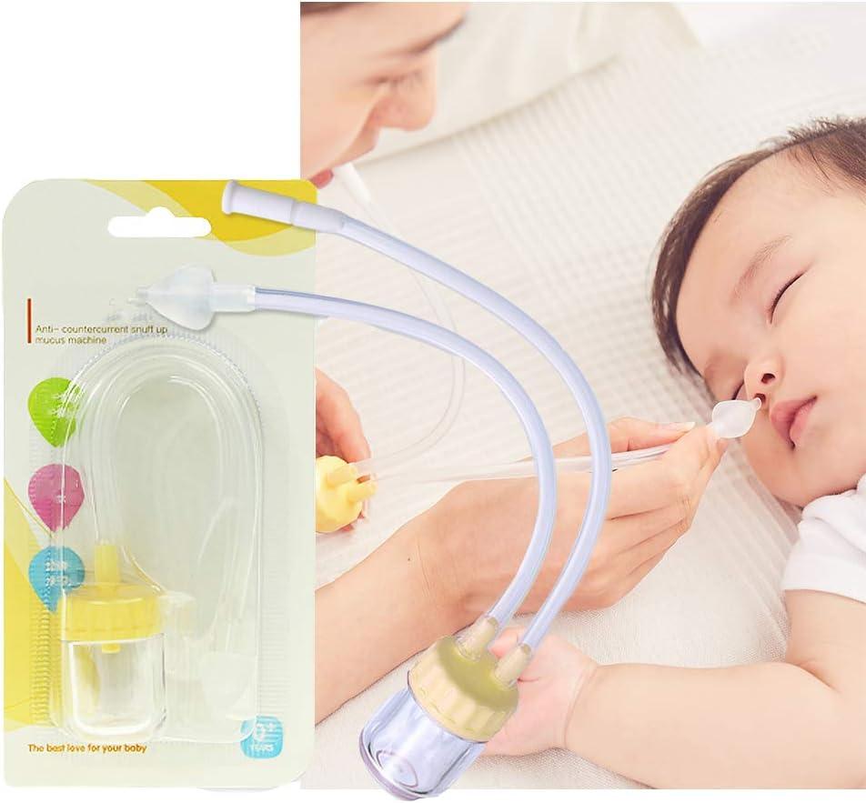 HBIAO Aspirador Nasal para bebés, Limpiador de Nariz de Seguridad Succionador de mocos Filtros de Nariz Nasal Alivio de la congestión de Nariz Infantil: Amazon.es: Hogar