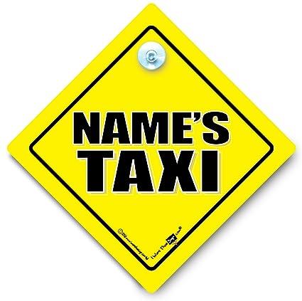 iwantthatsign.com Señal de coche TAXI, personalizable ...